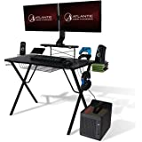 Atlantic Gaming Original Gaming-Desk Pro - Curved-Front, 10 Games, Controller, Headphone & Speaker Storage, 40.25x23.5 inch C