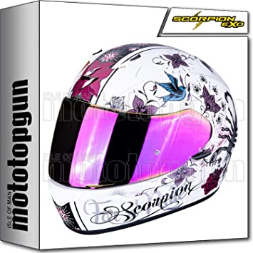 Amazon.es: MOTOTOPGUN SCORPION 39-250-205 Casco de moto integral EXO-390 Chica perla blanco-negro XS