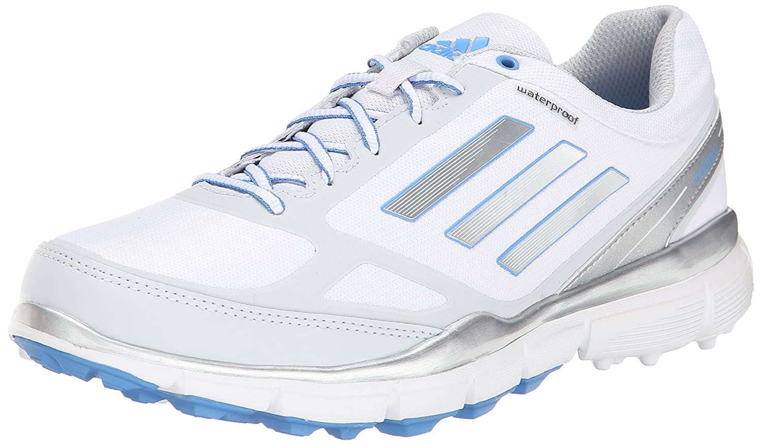 adidas Women's W Adizero Sport III Golf Shoe B00NVSBG7E 8 B(M) US|Running White/Silver Metallic/Lucky Blue