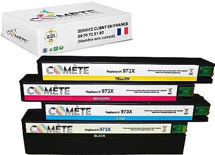 ○ Pack de 4 Cartuchos de tóner HP 973x de Gran Capacidad ○ Compatible Premium ○