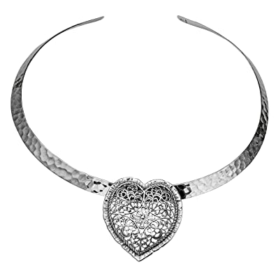 Amazon paz creations 925 sterling silver heart shaped pendant paz creations 925 sterling silver heart shaped pendant made in israel aloadofball Gallery