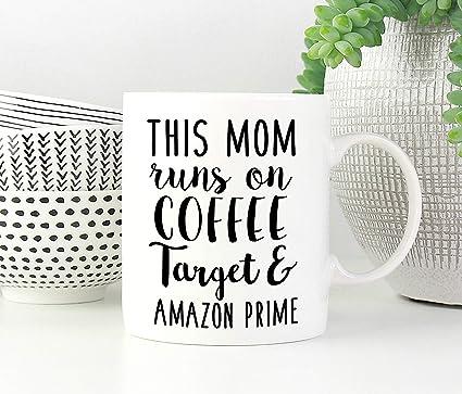 Amazon Funny Mom Mug This Runs On Coffee Target