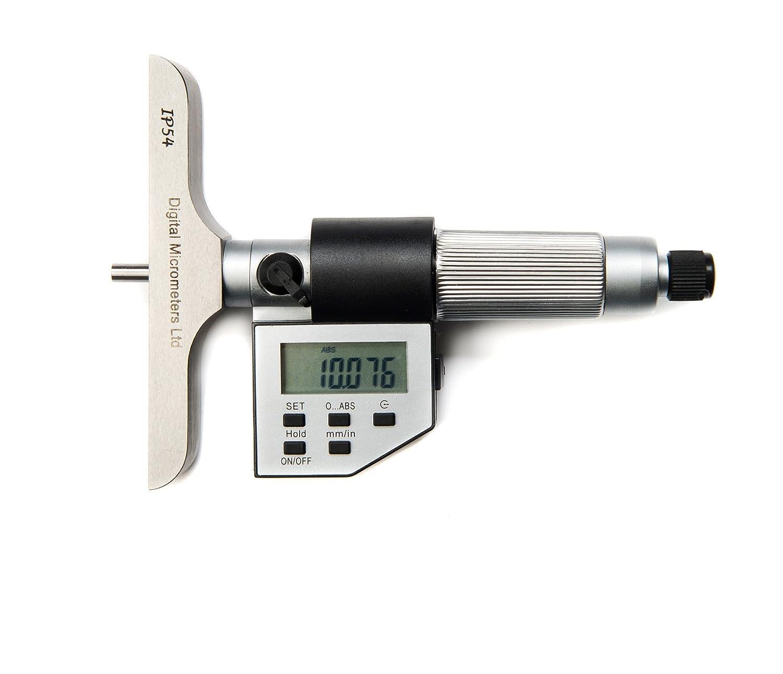 /25/mm micr/ómetro IP54/Digital de profundidad 12/meses garant/ía DML 0/