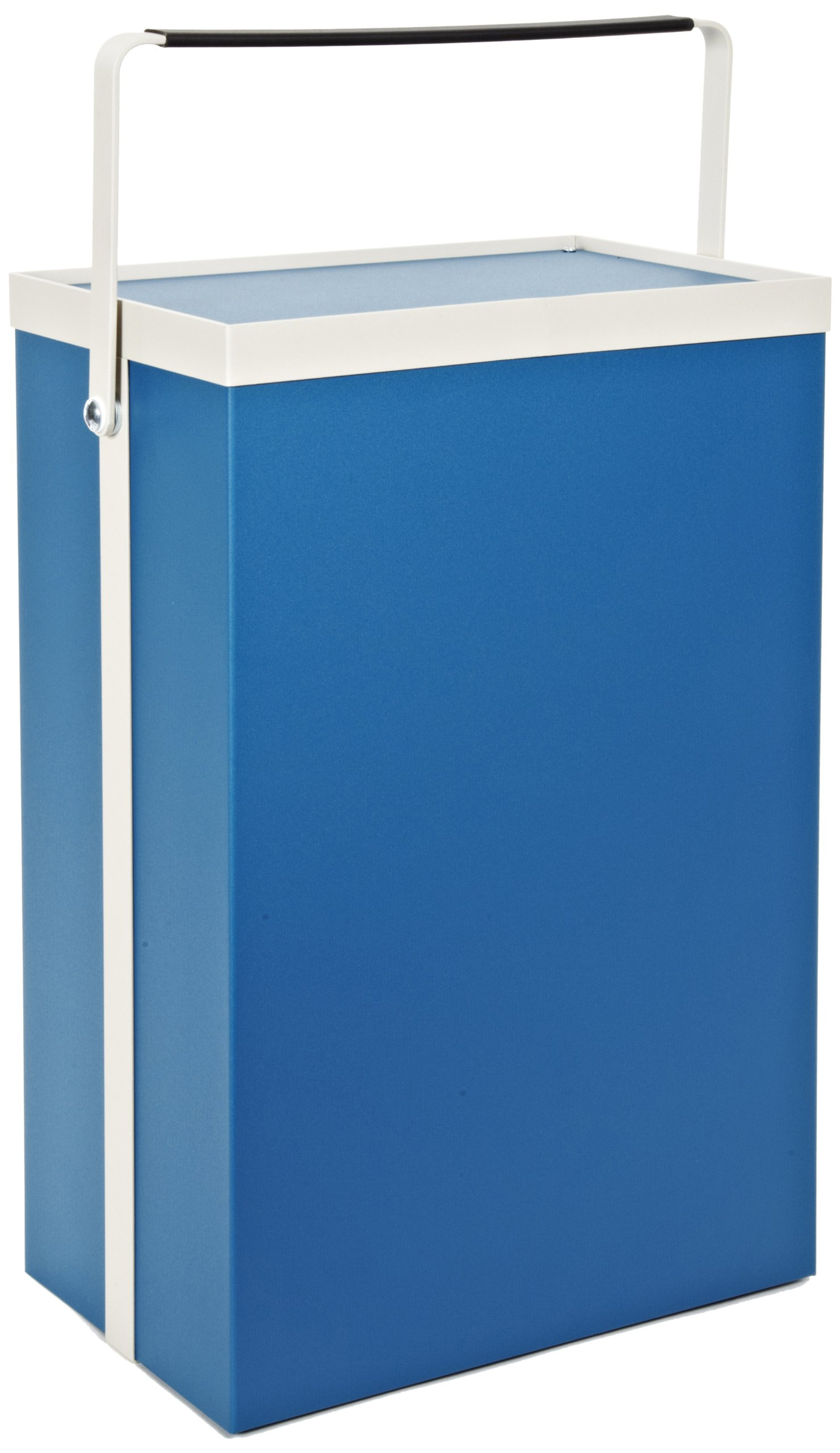 BUD Industries Series TR Aluminum Small Cabinet with White Frame and Bail, 12'' Width x 8'' Height x 18-3/4'' Depth, Royal Blue Texture Finish by BUD Industries