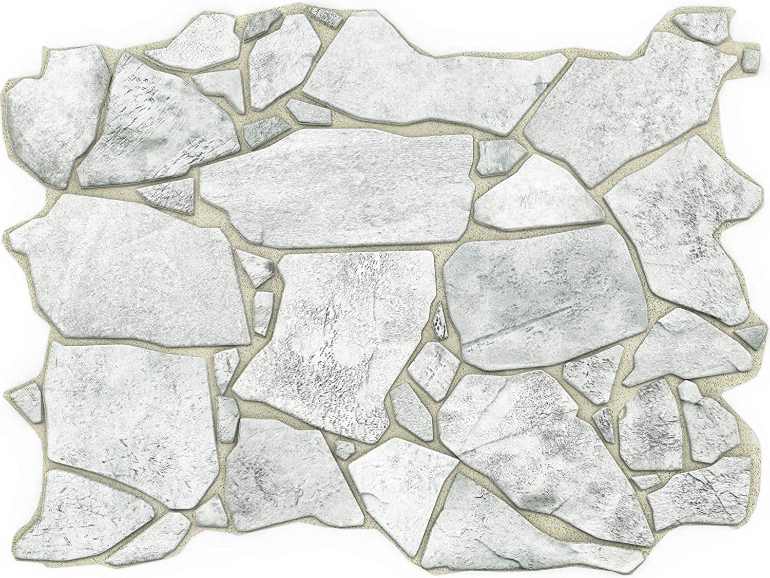 Concord Wallcoverings 3D Wall Panel Grey Crude Stone Designed Pattern, Raised Texture, Waterproof and Fire-Resistant PVC, Size 23.5 Inches Wide 17.5 Inches High 562WG (10)