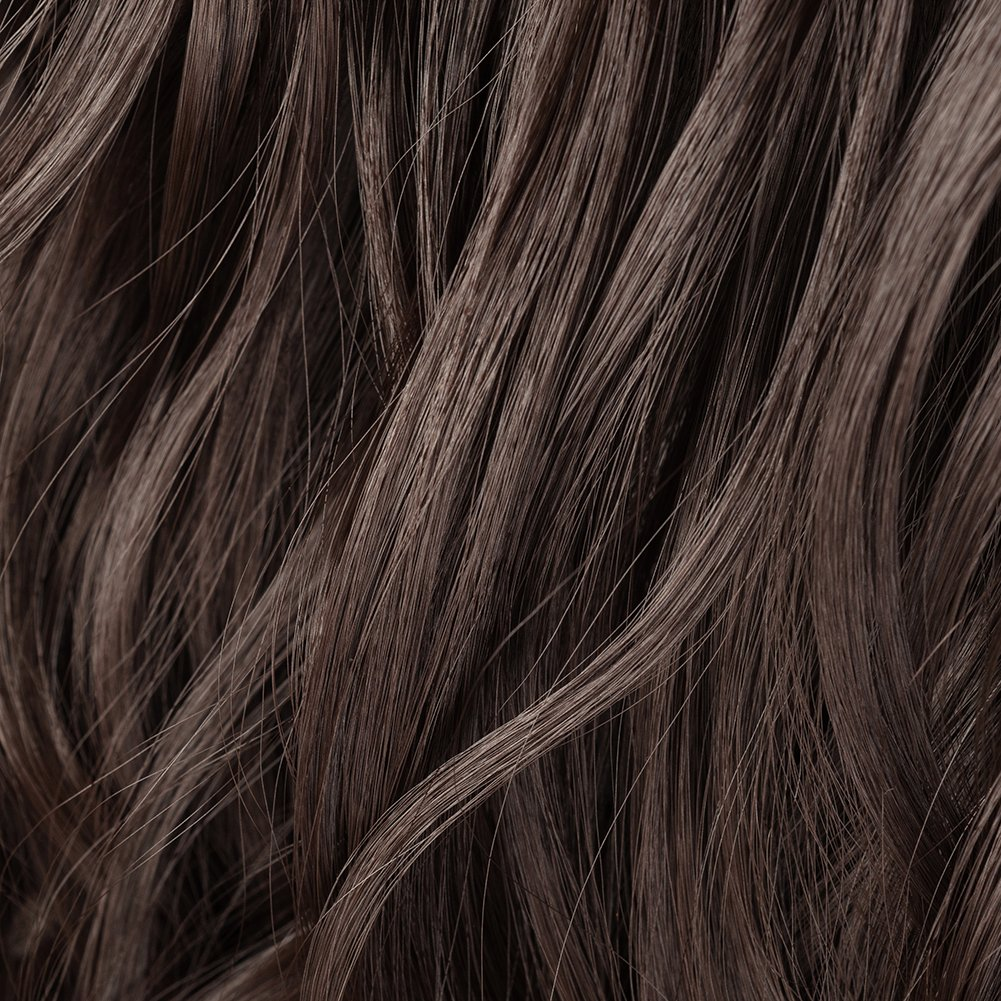 Clip in Hair Extensions Synthetic Full Head Charming Hairpieces Thick Long Straight 8pcs 18clips for Women Girls Lady (24 inches-wavy, dark brown) by Beauti-gant (Image #4)