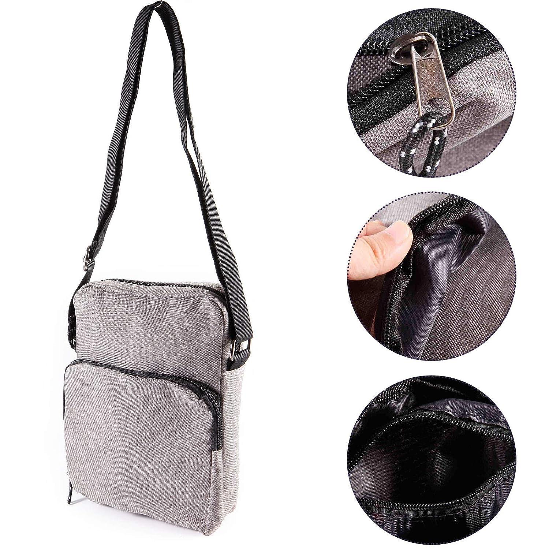 Anladia Mens Bag Messenger Bag Shoulder Bags Travel Bag Man Purse Crossbody Bags for Work Business Dark Grey