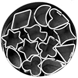 Fox Run 3690 Micro Shapes Cookie Cutter Set,  Stainless Steel,  12-Piece