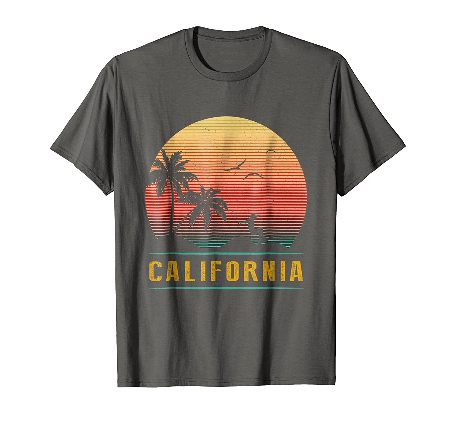 f8df04ab Imported Machine wash cold with like colors, dry low heat. Premium  California Vintage Retro T-Shirt - 70s throwback Surf surfing tee ...