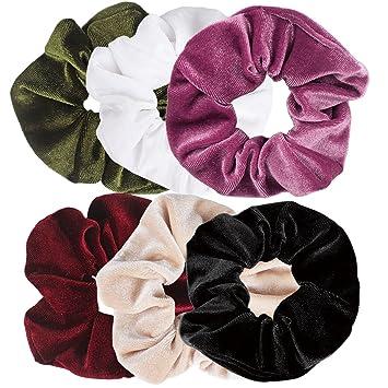 775a3220d6f Jaciya 6 Pack Scrunchies for Hair Velvet Scrunchies for Hair Velvet  Scrunchies Elastics Scrunchies Velvet Scrunchy