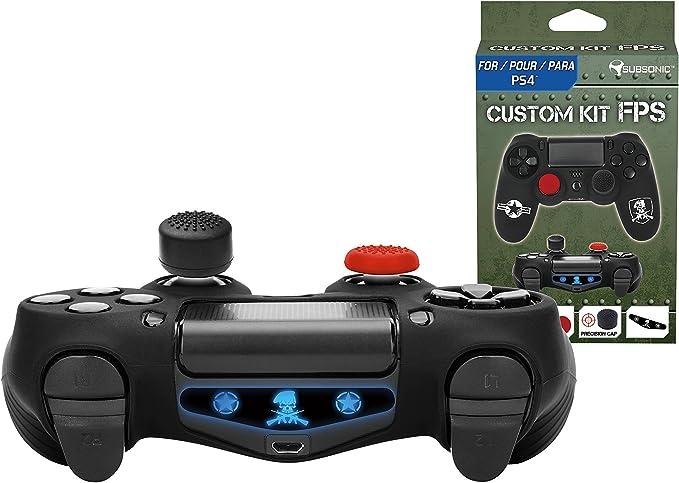 Subsonic - Kit de customización para mando playstation 4 - Funda de silicona para mando PS4 con grips para joysticks - CAMO / FPS: Amazon.es: Videojuegos