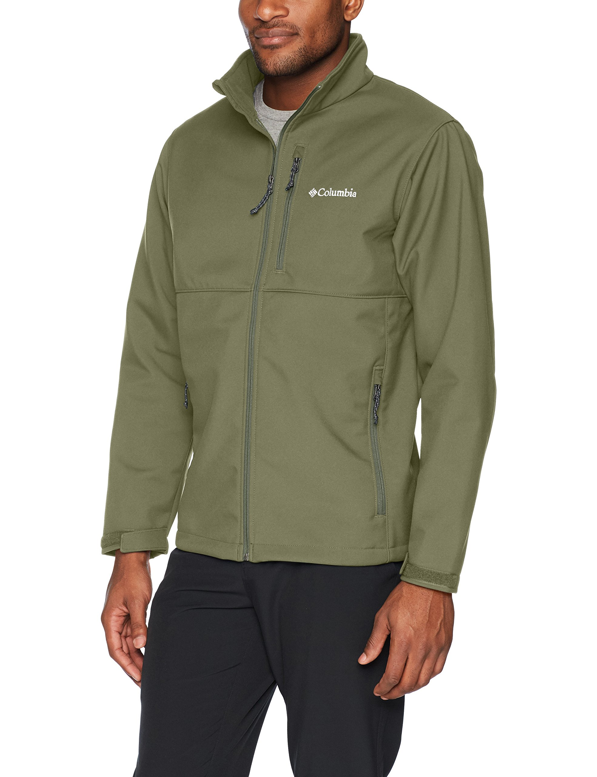 Columbia Men's Ascender Softshell Jacket, Water & Wind Resistant, Mosstone XXL,