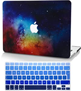 "KECC Laptop Case for MacBook Pro 15"" (2019/2018/2017/2016) w/Keyboard Cover Plastic Hard Shell A1990/A1707 Touch Bar 2 in 1 Bundle (Night Dream)"