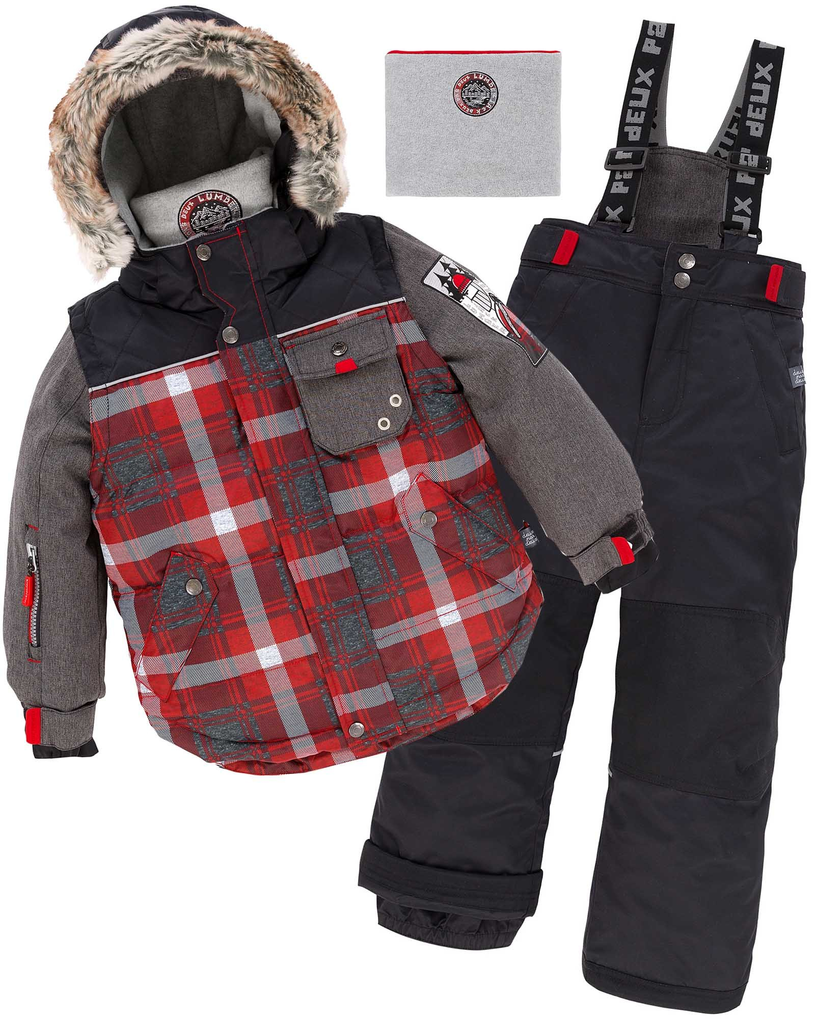 Deux par Deux Boys' 2-Piece Snowsuit Lumberjack Black, Sizes 5-14 - 8 by Deux par Deux