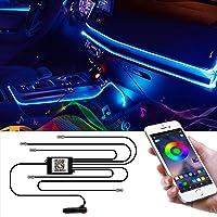 Wilktop Led-binnenverlichting voor de auto, 6 m, RGB, lichtstrip, neonverlichting, sfeerverlichting, binnenverlichting…