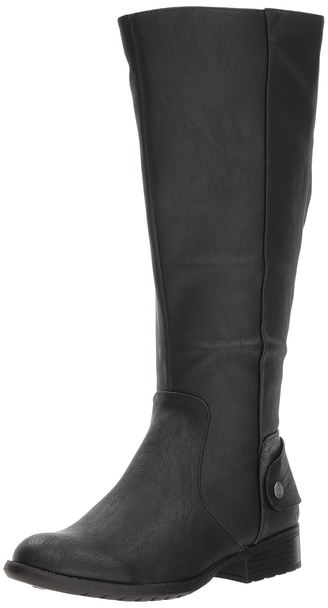 LifeStride Women's Xandywc Equestrian Boot, Black Wc, 6.5 M US