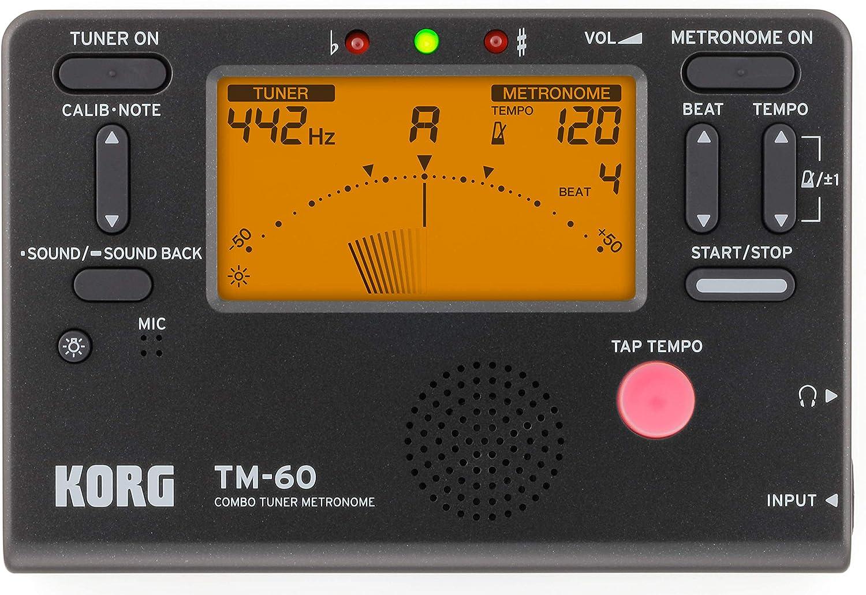 Korg TM60BK Tuner Metronome, Black