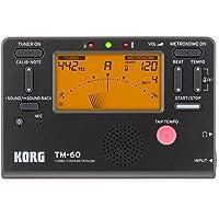 KORG KO-TM60BK TM-60 Combo Tuner Metronome with LED Screen, Black