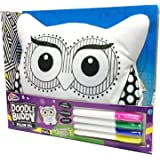 Grafix Owl Cushion Doodle Buddy Toy Colour Your Own Pillow