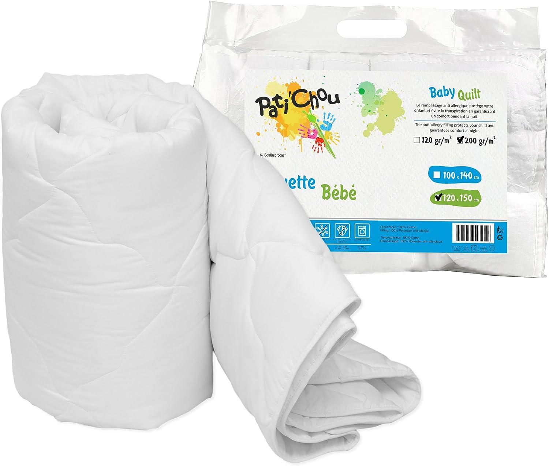 PatiChou Baby 80x80 cm Quilt Duvet 100/% Cotton Cover Cradle Kids Bed Tog 4
