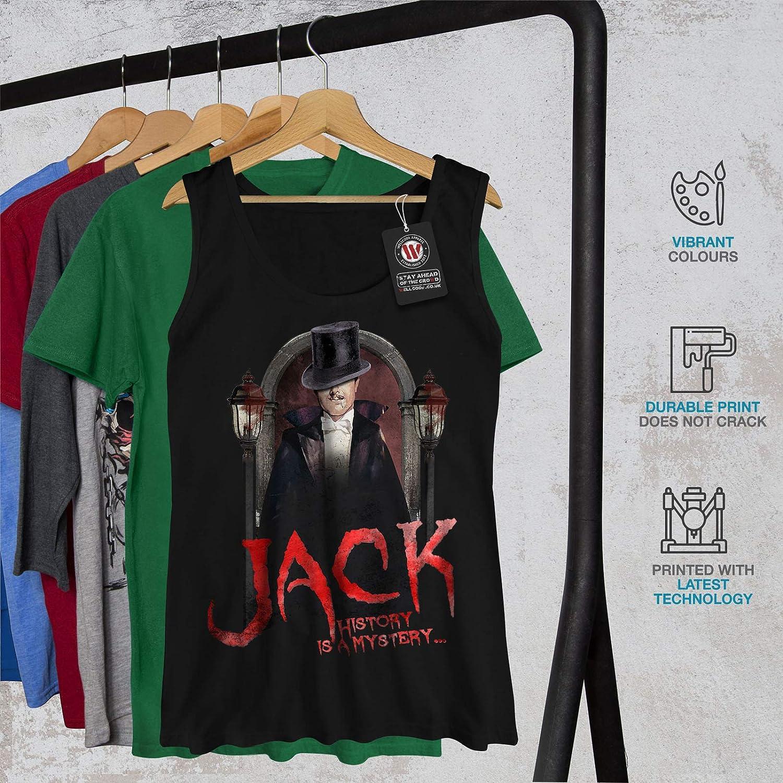wellcoda Jack Serienm/örder Frau Tank Top Aufrei/ßer/ Athletisches Sport-Shirt