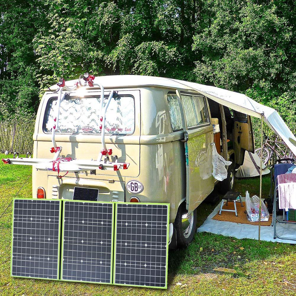 3 x 50 W Panneaux solaires pliables 12 V en silicone monocristalin flexible chargeur solaire pour batterie 12 V Camper Canvan Camping RV XINPUGUANG 150 W