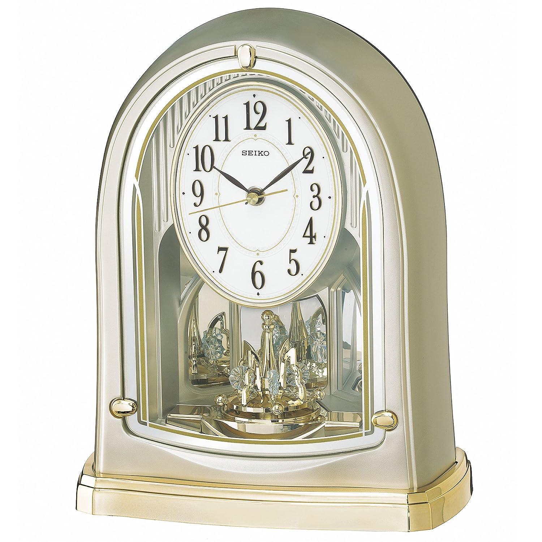 セイコー クロック 置き時計 電波 アナログ 回転飾り 薄金色 パール BY241G SEIKO B01MRUFE7A