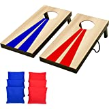 GoSports Portable Size Cornhole Game Set with 6 Bean Bags - Great for Indoor & Outdoor Play (Choose Between Classic or…