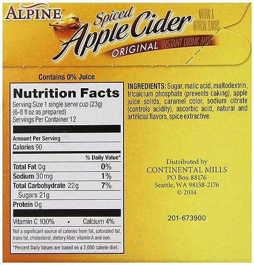 Keurig Hot Apple Cider Nutrition Facts | Besto Blog