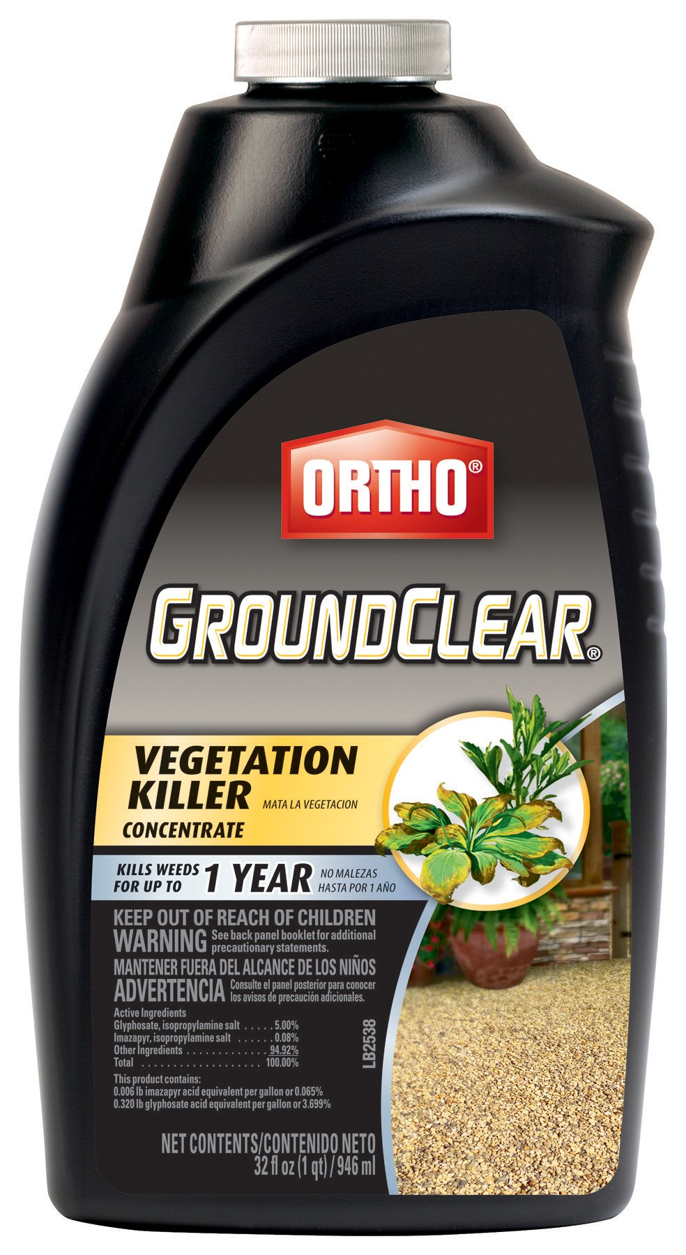 Ortho GroundClear Vegetation Killer Concentrate, 32-Ounce by Ortho