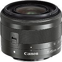 Canon Obiettivo Grandangolare EF-M 15-45 mm, f/3.5-6.3 IS STM MILC, Compatibile con Canon EOS M, Nero/Antracite