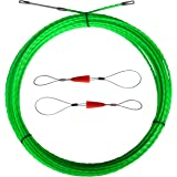 Aewio 20m Electrical Wire Cable Fish Tape Threader Wire Puller for Pulling Wire Line (20m Green Diameter 4.5mm)