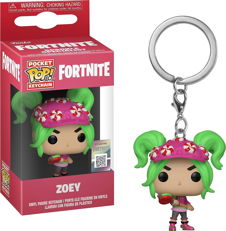 Funko- Keychain Pocket Pop Fortnite Zoey Figura de Vinilo, Multicolor (1)