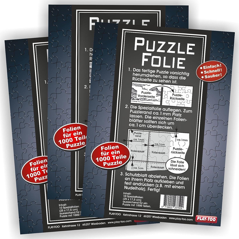 3er Set Puzzlefolie 30 Blatt Play-Too