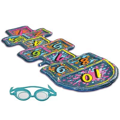 Blue Wave 3D Action Hopscotch Sprinkler Mat: Toys & Games [5Bkhe1801941]