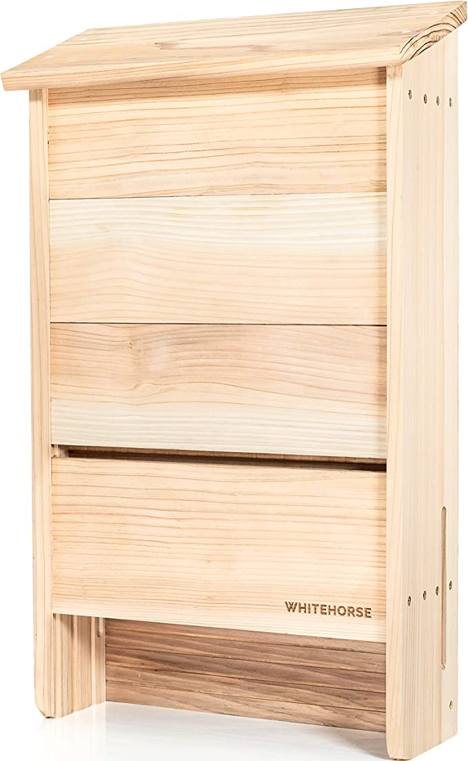 A 4 Compartment Bat Box That is Built to Last WHITEHORSE Certified Cedar Bat House Black Enjoy a Healthier Yard with Fewer Mosquitos While Supporting Bats