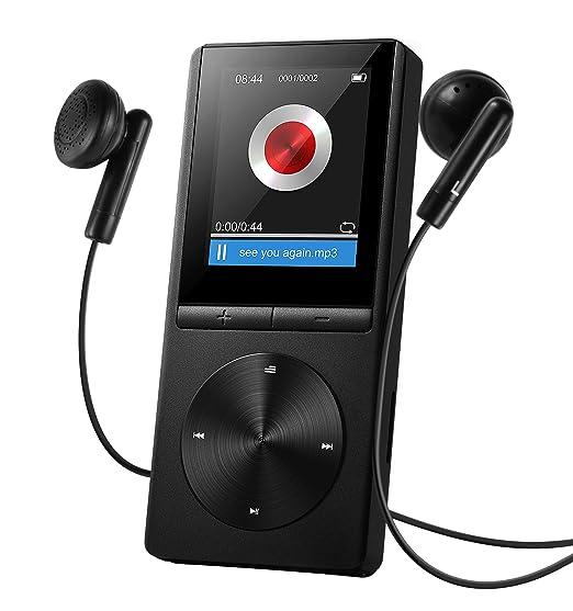 """7 opinioni per Lettore MP3 8GB VTIN Musica MP3 Player con 1.8"""" Schermo TFT, con Fascia Sportiva"""