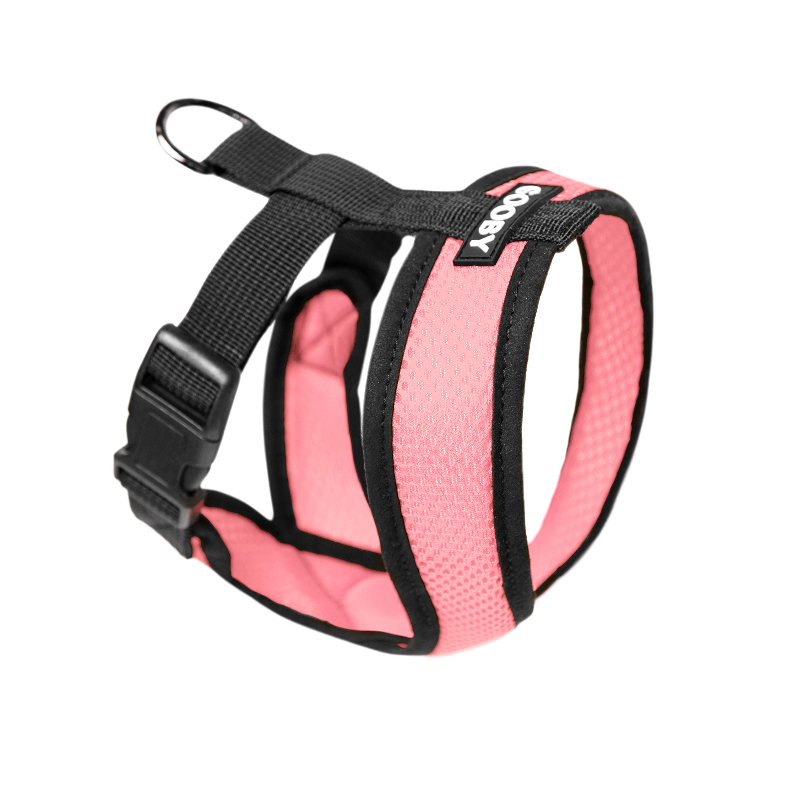 Gooby - Comfort X Head-in Harness, Choke Free Small Dog Harness with Micro Suede Trimming and Patented X Frame, Pink, Medium
