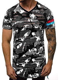 T-Shirt Kurzarm Shirt Mit Motiv Rundhals Mit Aufdruck Herren OZONEE B//80004
