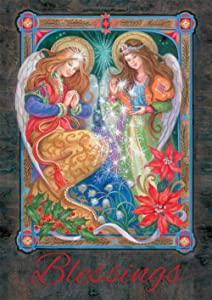 Toland Home Garden Blessing Angels 12.5 x 18 Inch Decorative Winter Christmas Faith Religious Garden Flag