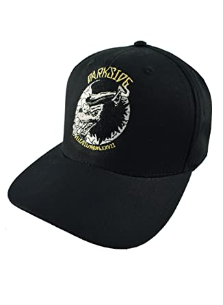 21e9f13e0a1 Top Hat Wolf Genuine Darkside Black Embroidered Snapback Baseball Cap   Amazon.co.uk  Clothing