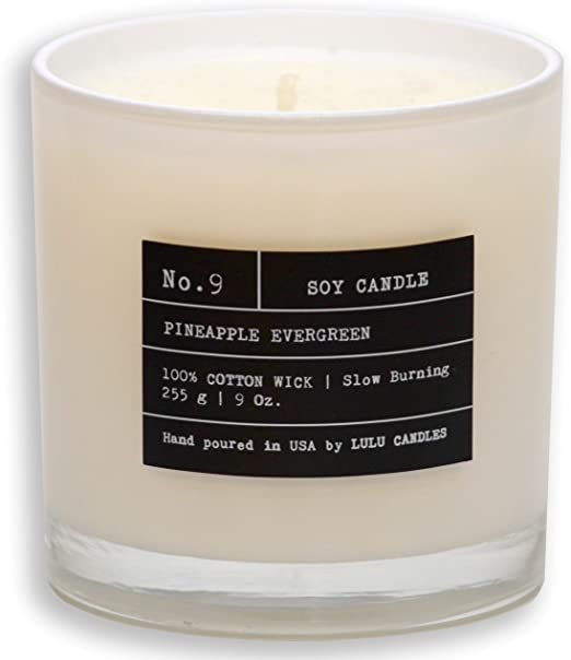 Luxury Scented Soy Candles Pineapple Evergreen, 6 Oz. Highly Scented /& Long Lasting Hand Poured in The USA