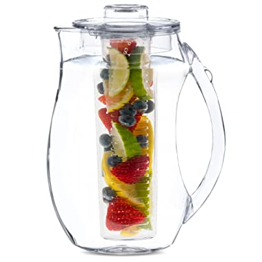 Home Basics Fruit Infusion Plastic Pitcher