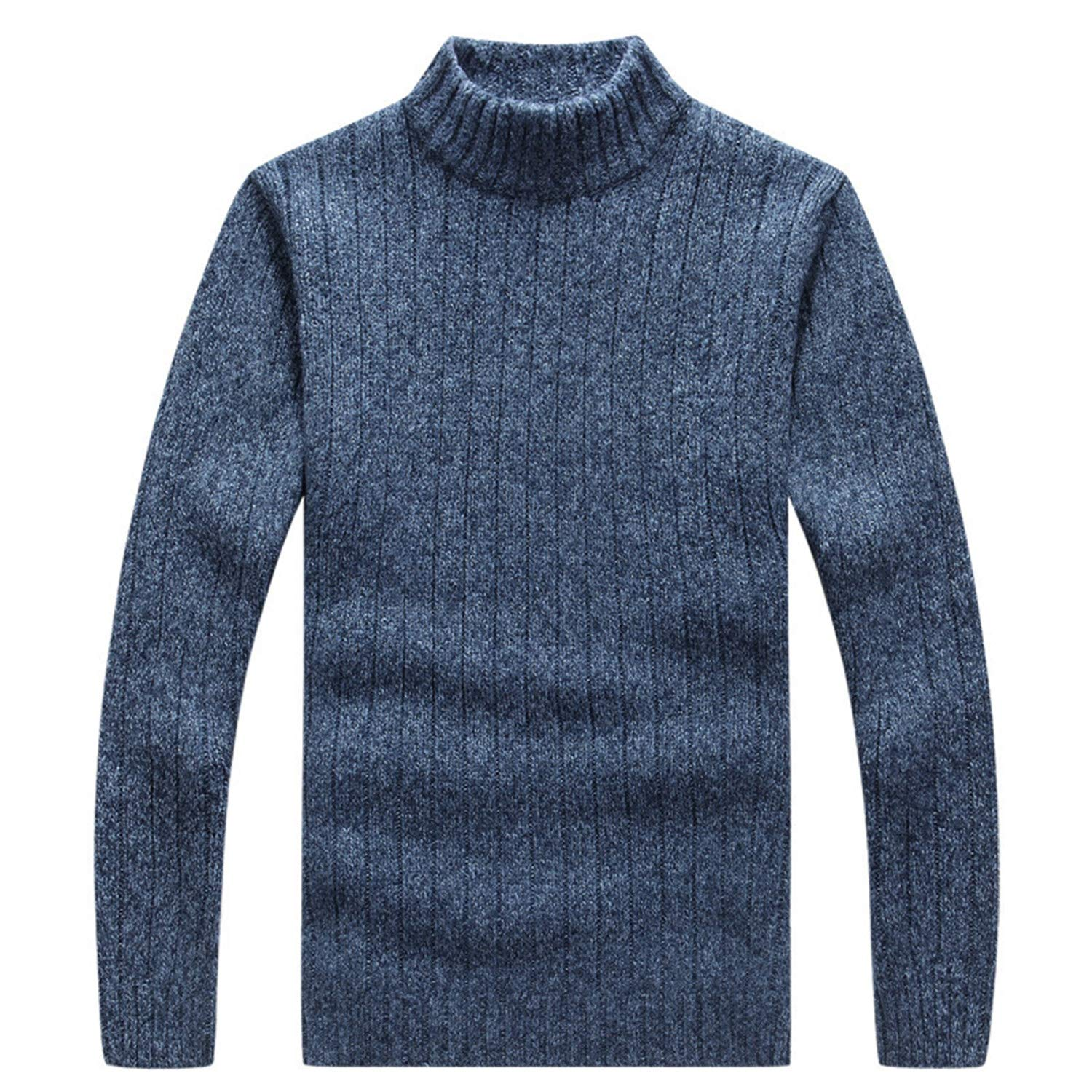Thadensama Mens Pullovers Sweaters Autumn and Winter Slim Turtleneck for Man Classic Wool Turtleneck Knitwear Clothes