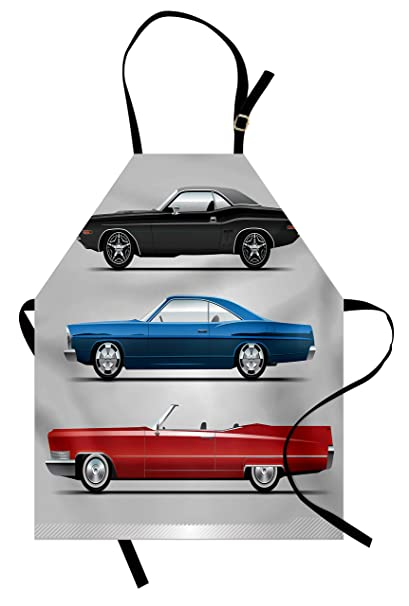 Old Fashioned Cars >> Amazon Com Lunarable Cars Apron Old Fashioned Cars In Seventies