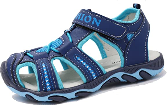 Femizee Closed-Toe Casual Outdoor Sandals for Boys Girls Toddler//Little Kid//Big Kid
