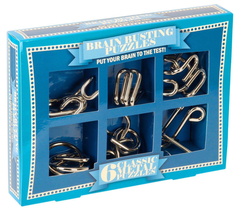 Professor Puzzle Brain Busting 6 Classic Metal Puzzle Set: Amazon.co ...