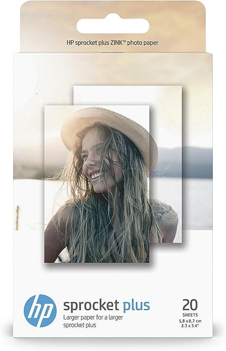 HP Sprocket Plus, Papeles Fotográficos, Térmica, 5.8 x 8.7 cm ...