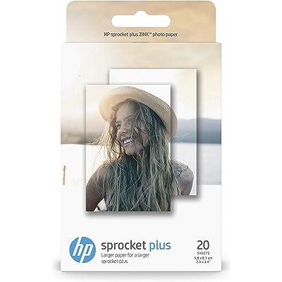 HP Sprocket Plus, Papeles Fotográficos, Térmica, 5.8 x 8.7 cm, Blanco