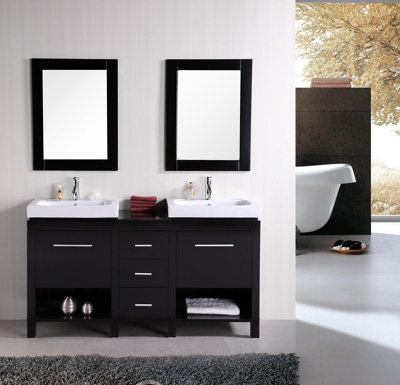 New York 60'' Double Sink Vanity Set in Espresso by Design Element (Image #1)